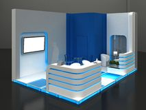 Exhibition Stand Interior / Exterior Sample Stock Photo