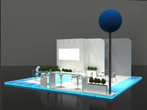 Exhibition Stand Interior / Exterior Sample Royalty Free Stock Photos