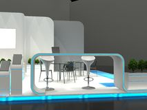 Exhibition Stand Interior / Exterior Sample Stock Image