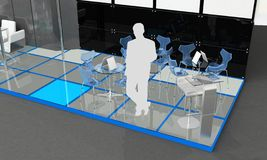 Exhibition Stand Interior - Exterior Sample Stock Image