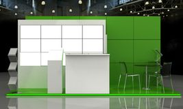 Exhibition Stand Interior - Exterior Sample Royalty Free Stock Photo