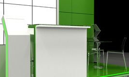 Exhibition Stand Interior - Exterior Sample Royalty Free Stock Image