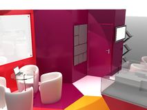 Exhibition Stand Interior Sample Royalty Free Stock Image