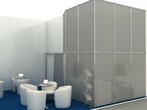 Exhibition Stand Interior Sample Royalty Free Stock Photos