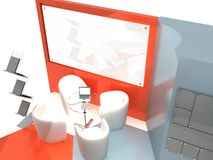 Exhibition Stand Interior/Exterior Sample Royalty Free Stock Photo