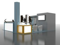 Exhibition Stand Interior/Exterior Sample Stock Images