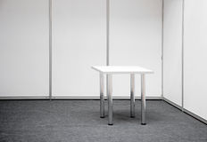 Exhibition stand with table Royalty Free Stock Photo