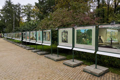Exhibition on the street Royalty Free Stock Image