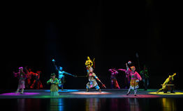 "The exhibition supernatural powers-Children's Beijing Opera""Yue teenager"" Royalty Free Stock Images"