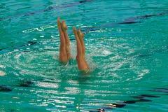 Exhibition of synchronized swimming Stock Photo