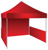 Exhibition tent. The concession stand in the form of a canopy with possible use as an exhibition canopy. Vector illustration Royalty Free Stock Images