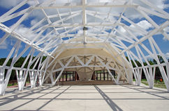 Exhibition tent construction Stock Images