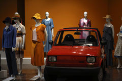 Exhibition titled Fashionable in Communist Poland which reflects the unique character of fashion in the post-war decades. National Stock Photos