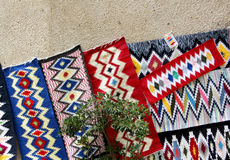 An exhibition of traditional mats, sicily Royalty Free Stock Photography