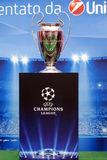 Exhibition of the Uefa Champions League Trophy Royalty Free Stock Image