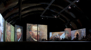 The exhibition Van Gogh Alive. Saint Petersburg. R Stock Photos