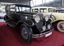 Exhibition of vintage cars in Sokolniki Park Stock Images