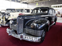 Exhibition of vintage cars in Sokolniki Park Stock Photo