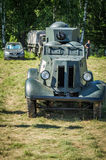 Exhibition of vintage military equipment in the Kaluga region in Russia on 26 June 2016. Stock Photography