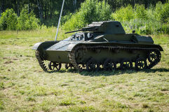 Exhibition of vintage military equipment in the Kaluga region in Russia on 26 June 2016. Royalty Free Stock Image
