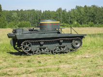 Exhibition of vintage military equipment in the Kaluga region in Russia on 26 June 2016. Royalty Free Stock Photography