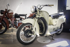 Exhibition of vintage motorcycles Stock Photos