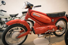Exhibition of vintage motorcycles Royalty Free Stock Images