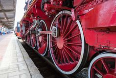 Exhibition of vintage trains Stock Images