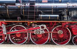 Exhibition of vintage trains Stock Photography