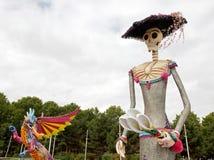 Exhibition and virtual visit on Mexico. Paris, the Parc de la Villette (France). an Alebrije, the dragon and Caterina Stock Photo