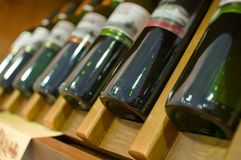 Exhibition of wine, alcohol. Royalty Free Stock Image