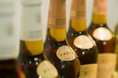 Exhibition of wine, alcohol. Royalty Free Stock Images