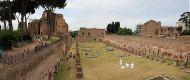 Exhibitionism  at Forum Romanum in Rome Royalty Free Stock Photo