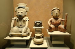 Exhibitions in the National Museum of Anthropology, Mexico City Stock Image
