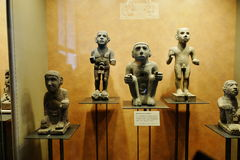 Exhibitions in the National Museum of Anthropology, Mexico City Royalty Free Stock Photography