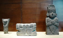 Exhibitions in the National Museum of Anthropology, Mexico City Royalty Free Stock Images