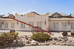 Exhibitions of the Swakopmund Museum on the site of the former Otavi railway station Stock Photography