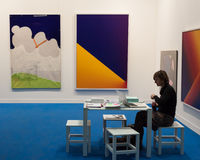 Exhibitor at Miart 2014 in Milan, Italy Royalty Free Stock Images
