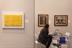 Exhibitor at Miart 2014 in Milan, Italy Royalty Free Stock Image