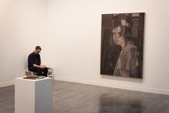 Exhibitor at Miart 2014 in Milan, Italy Royalty Free Stock Image
