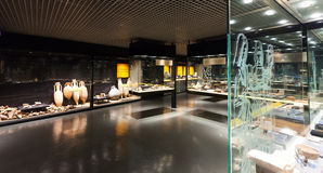 Exhibits of Badalona Roman Museum Royalty Free Stock Photo