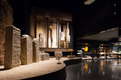 Exhibits of Badalona Roman Museum Royalty Free Stock Image