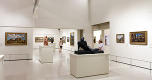 Exhibits of National Art Museum of Catalonia Stock Image