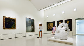 Exhibits of National Art Museum of Catalonia Stock Photography