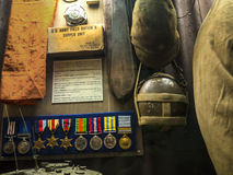 Exhibits in the Regimental Museum in the City Museum in Lancaster England in the Centre of the City Royalty Free Stock Photo