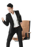 Exhilarated Businessman. Exited with joy Royalty Free Stock Photos
