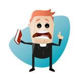 Exhorting cartoon priest Royalty Free Stock Images