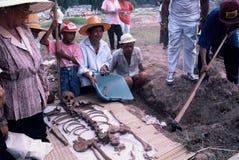 Exhumación total en Tailandia Foto de archivo