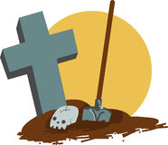 Exhumed Grave Stock Images