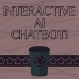 Exibição Ai interativo Chatbot do sinal do texto Programa informático conceptual da foto que simula a conversação 3D do huanalysi ilustração royalty free